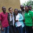 """Sonia Rolland était en voyage humanitaire au Rwanda, son pays d'origine, fin novembre - début décembre 2012 pour le compte de son association Maïsha Africa. Elle visite des """"Chefs de famille"""" à Kinyinya. Les maisons sont réhabilitées par l'association."""