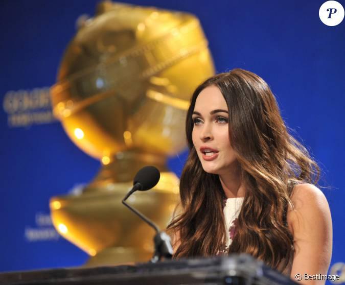 Megan fox lors de l 39 annonce des nomin s au 70e golden for Megan fox petite