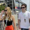 Jennifer Lawrence et Nicholas Hoult lors du Grand Prix de Monaco le 26 mai 2012.