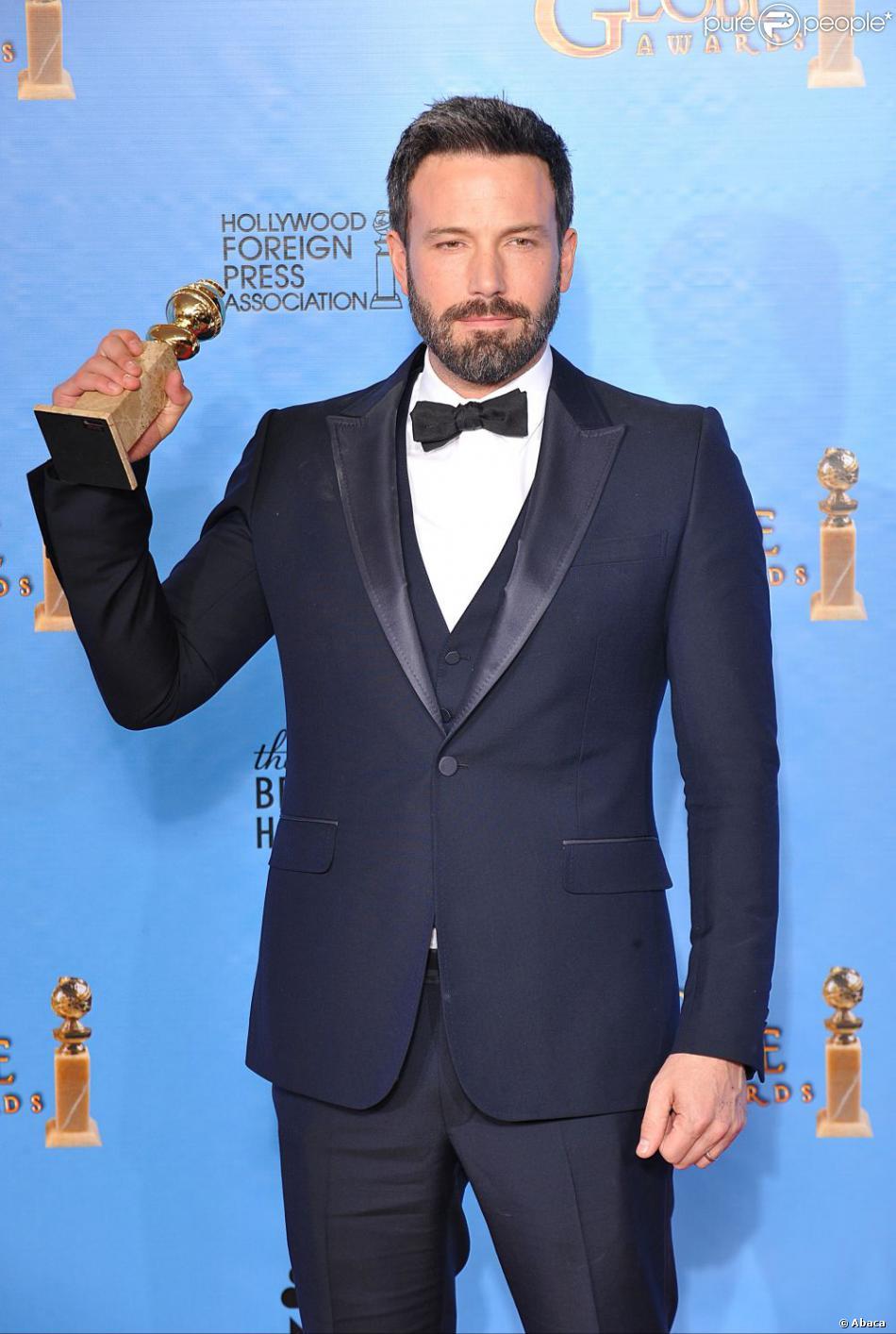 Ben Affleck (Argo), élu meilleur réalisateur aux Golden Globes 2013.