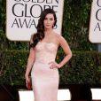Megan Fox à la 70e cérémonie des Golden Globes à Los Angeles le 13 janvier 2013. L'actrice a déjà retrouvé la ligne après avoir accouché le 27 septembre d'un petit Noah.