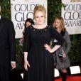 Adele à la 70e cérémonie des Golden Globes à Los Angeles le 13 janvier 2013. Elle a donné naissance à un petit garçon le 19 octobre 2012.