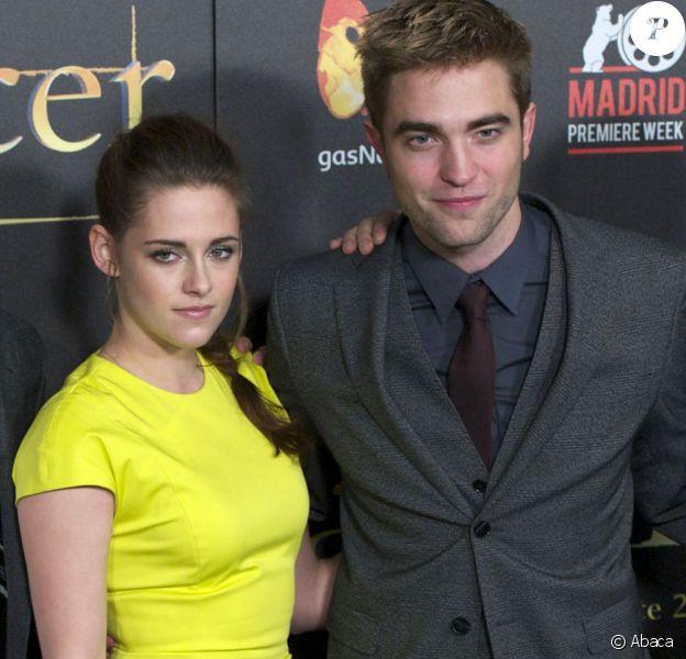 Kristen Stewart et Robert Pattinson lors de la promotion à Madrid de Twilight 5 le 15 novembre 2012