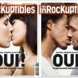 Couvertures du magazine Les Inrockuptibles, en faveur du mariage pour tous, le 7 novembre 2012.