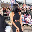 Alesha Dixon arrive aux auditions de l'émission Britain's Got Talent à Cardiff, le 16 janvier 2013.