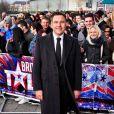 David Walliams arrive aux auditions de l'émission Britain's Got Talent à Cardiff, le 16 janvier 2013.