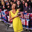 Amanda Holden arrive aux auditions de l'émission Britain's Got Talent à Cardiff, le 16 janvier 2013.