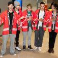 Les One Direction arrivent au Japon, le 17 janvier 2013.