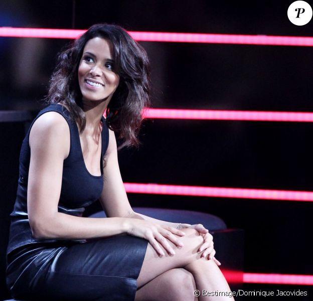 Shy'm lors de l'enregistrement du prime 'Samedi soir on chante Goldman', diffusé le 19 janvier 2013 sur TF1