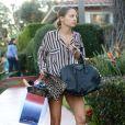 Nicole Richie quitte son hôtel à Beverly Hills, le 19 janvier 2013, aux côtés de toute sa petite famille