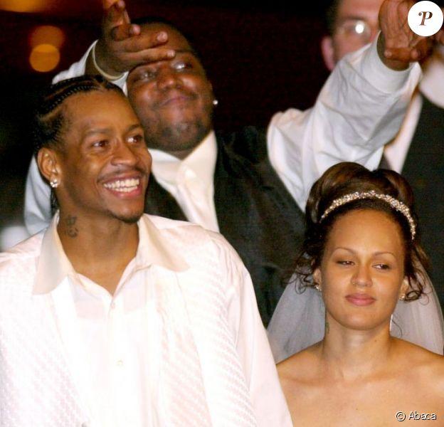 Allen Iverson et Twanna Turner lors de leur mariage, le 7 août 2001