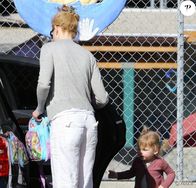 Nicole Kidman est allée chercher au jardin d'enfants sa fille Faith Margaret à Studio City en Californie le 22 janvier 2013
