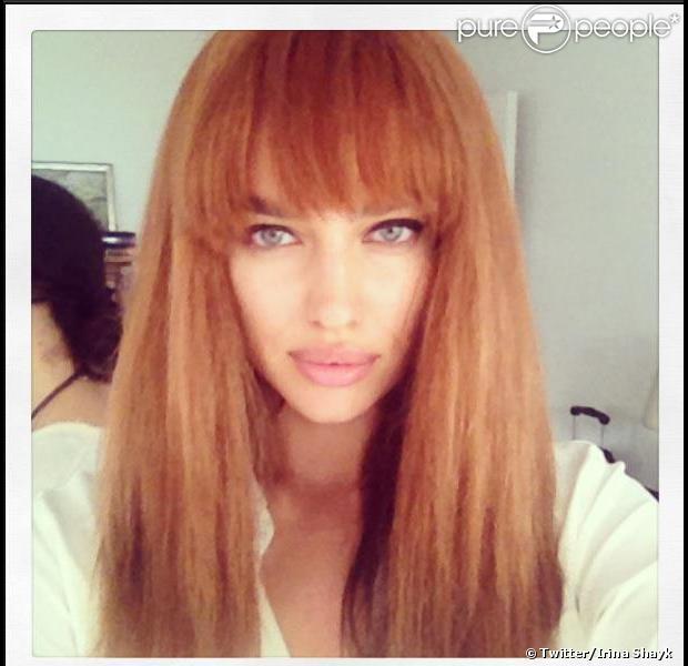 Irina shayk a dévoilé une nouvelle coupe et couleur de cheveux le 26