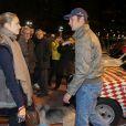 Pierre Casiraghi et Beatrice Borromeoà Monaco le 27 janvier 2013 avant le départ du 16e Rallye Monte-Carlo historique.