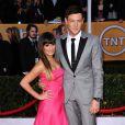 Lea Michele et Cory Monteith lors des Screen Actors Guild Awards à Los Angeles le 27 janvier 2013