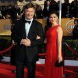 Alec Baldwin et Hilaria Thomas lors des Screen Actors Guild Awards à Los Angeles le 27 janvier 2013