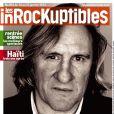 Couverture du nouveau numéro des Inrocks, avec Gérard Depardieu, en kiosques le 16 janvier 2013.