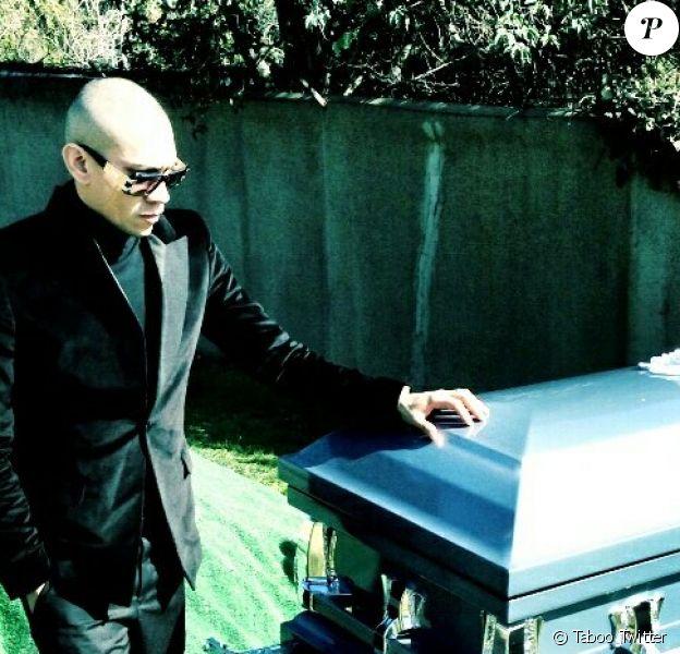 Taboo des Black Eyed Peas lors de l'enterrement de son frère Eddie, le 31 janvier 2013.