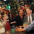 Alyson Hannigan, Jason Segel, Neil Patrick Harris et Josh Radnor dans la saison 8 de How I Met Your Mother, 2012-2013.