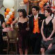 Josh Radnor, Cobie Smulders, Neil Patrick Harris, Jason Segel et Alyson Hannigan dans la saison 7 de How I Met Your Mother, 2011-2012.