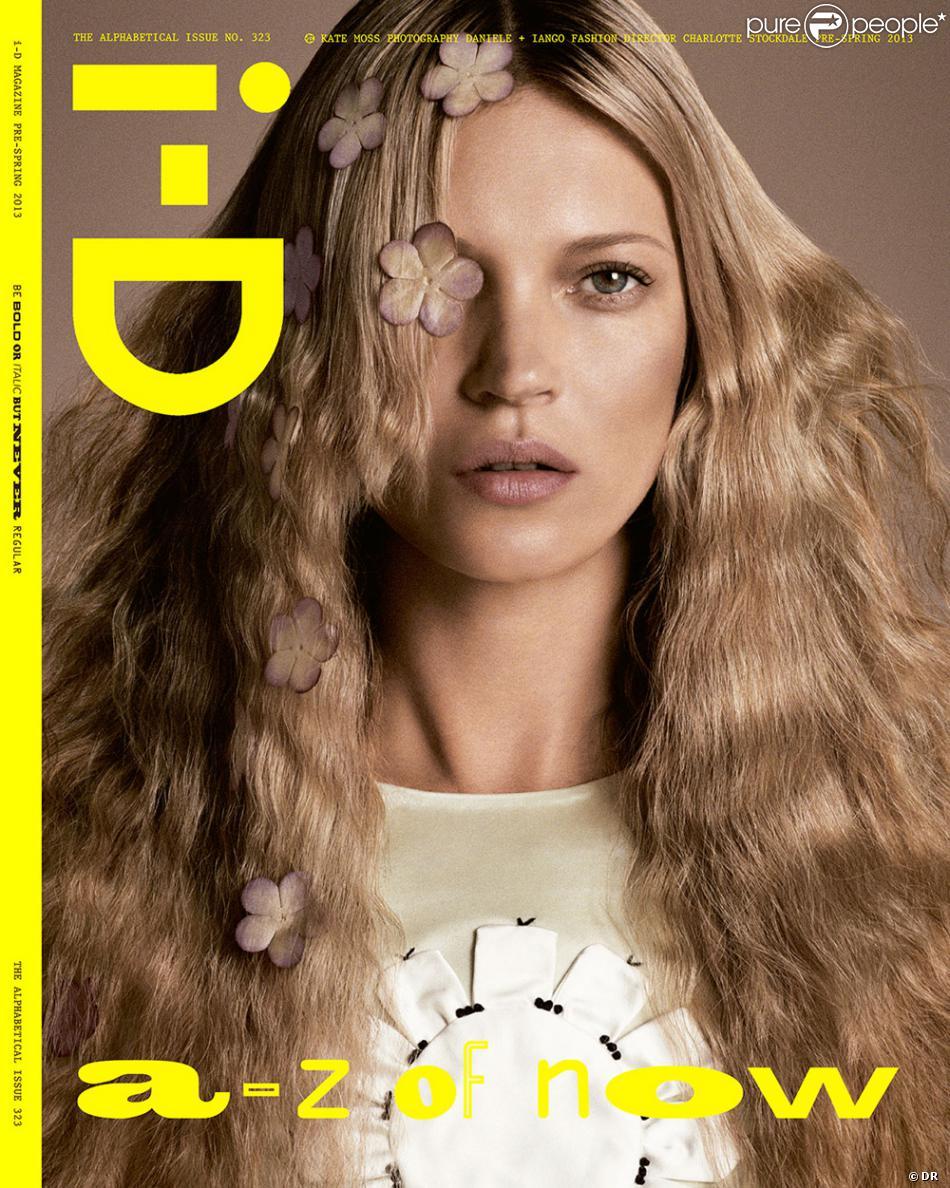 Kate Moss photographiée par Daniele + Iango en couverture du numéro The Alphabetical Issue du magazine i-D.