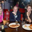 Gabrielle Lazure, Patrick Braoudé et Corinne Touzet lors de la galette des rois au show room de Nicolas Feuillatte à Paris - février 2013