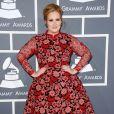 Adele à la 55e cérémonie des Grammy Awards à Los Angeles le 10 février 2013.