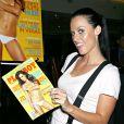 Amanda Beard présente le Playboy du mois de juillet 2007 au Virgin Megastore de New York dans lequel elle pose nue le 14 juin 2007
