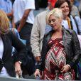 Gwen Stefani très enceinte à Wimbledon