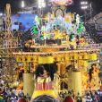 Image du défilé des écoles de samba au Carnaval de Rio de Janeiro le 11 février 2013.