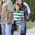 Paris Jackson se rend au cinéma avec ses frères Prince et Blanket, à Los Angeles, le 18 mai 2012.
