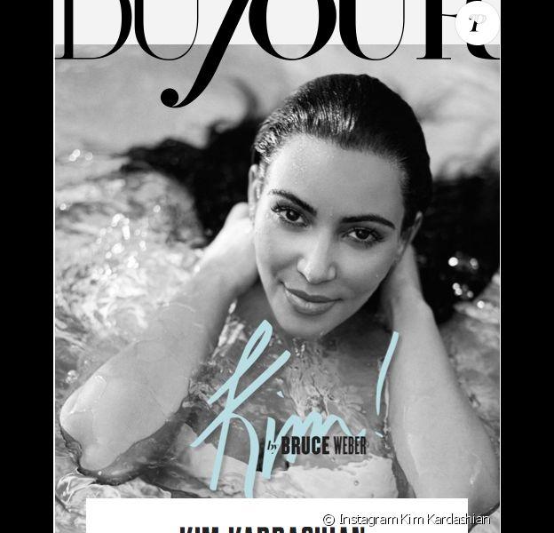 Kim Kardashian a pris la pose pour le magazine en ligne DuJour.com.
