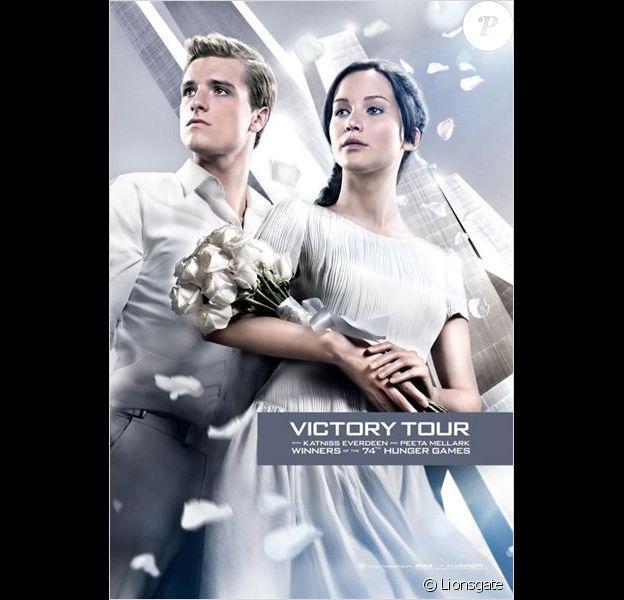 Jennifer Lawrence et Josh Hutcherson dans Hunger Games - L'embrasement