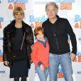 Franck Dubosc, Marina Fois et Charles Crombez à l'avant-première du film Boule et Bill au cinéma le Grand Rex à Paris, le 24 février 2013.