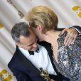 Daniel Day-Lewis et Meryl Streep lors de la 85e cérémonie des Oscars au Dolby Theatre de Los Angeles, le 24 février 2013.