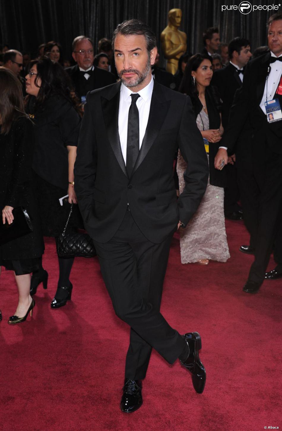 Jean Dujardin lors de la 85e cérémonie des Oscars à Los Angeles le 24 février 2013