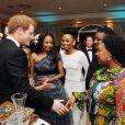 Le prince Harry lors d'un dîner de gala à Johannesburg, en Afrique du Sud, le 27 février 2013, au profit de son association Sentebale pour les enfants du Lesotho.