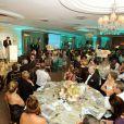 Le prince Harry s'exprime pendant un dîner de gala à Johannesburg, en Afrique du Sud, le 27 février 2013, au profit de son association Sentebale pour les enfants du Lesotho.