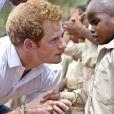 Le prince Harry lors de sa visite au Lesotho pour son association Sentebale le 27 février 2013