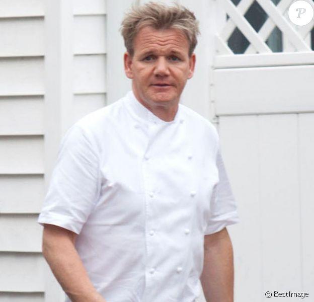 Exclu - Gordon Ramsay sur le tournage de Kitchen Nightmares, aux Etats-Unis, le 15 mai 2012.