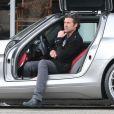 Exclusif - Patrick Dempsey et sa femme Jilian font du shopping à West Hollywood, le 19 février 2013.