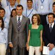 Felipe et Letizia d'Espagne au palais Zarzuela