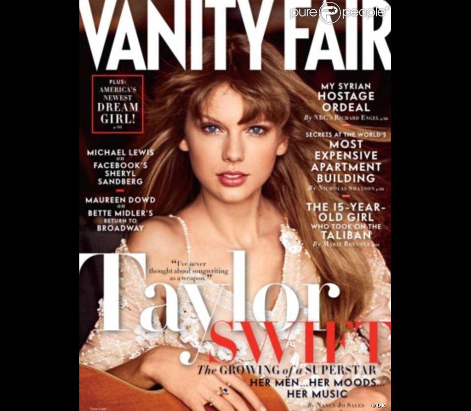 Taylor Swift fait la couverture du mois d'avril 2013 de  Vanity Fair .