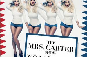 Beyoncé : Pin-up blonde et mutine pour son ''Mrs Carter World Tour''