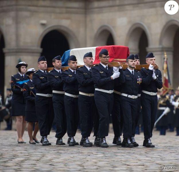 L'hommage national à Stéphane Hessel, à Paris le 7 mars 2013.