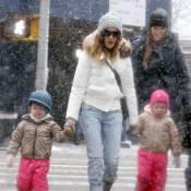 Sarah Jessica Parker : La star affronte la neige avec ses adorables jumelles