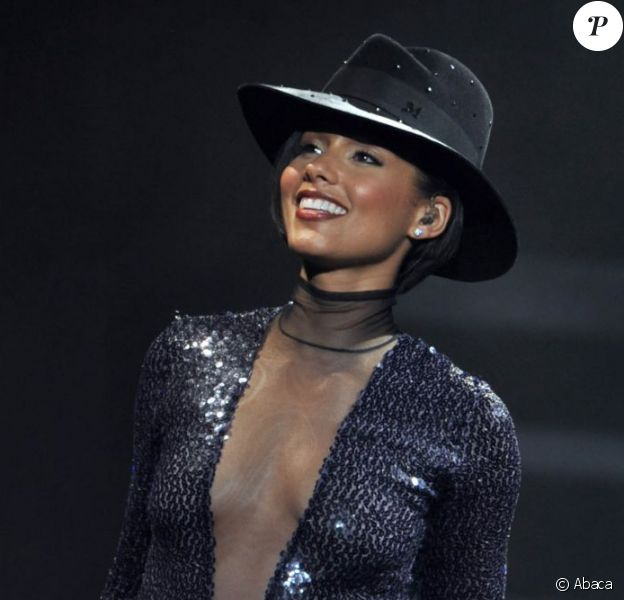Alicia Keys au Staples Center de Los Angeles, le 12 mars 2013.