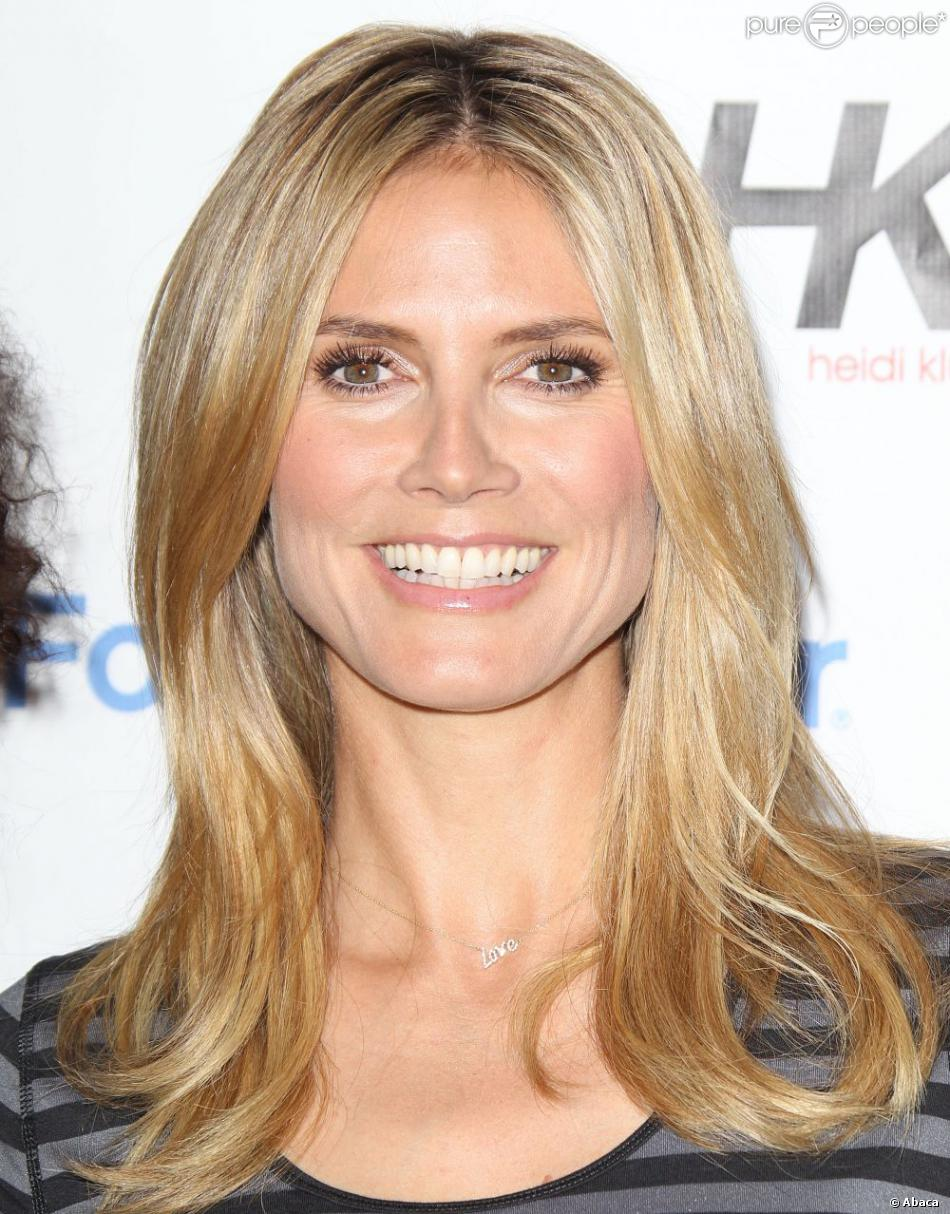 Heidi Klum lance sa collection Heidi Klum for New Balance dans la boutique Lady Foot Locker à Culver City. Le 14 mars 2013.