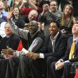 Michael Jordan et Scottie Pippen au United Center de Chicago le 15 février 2011