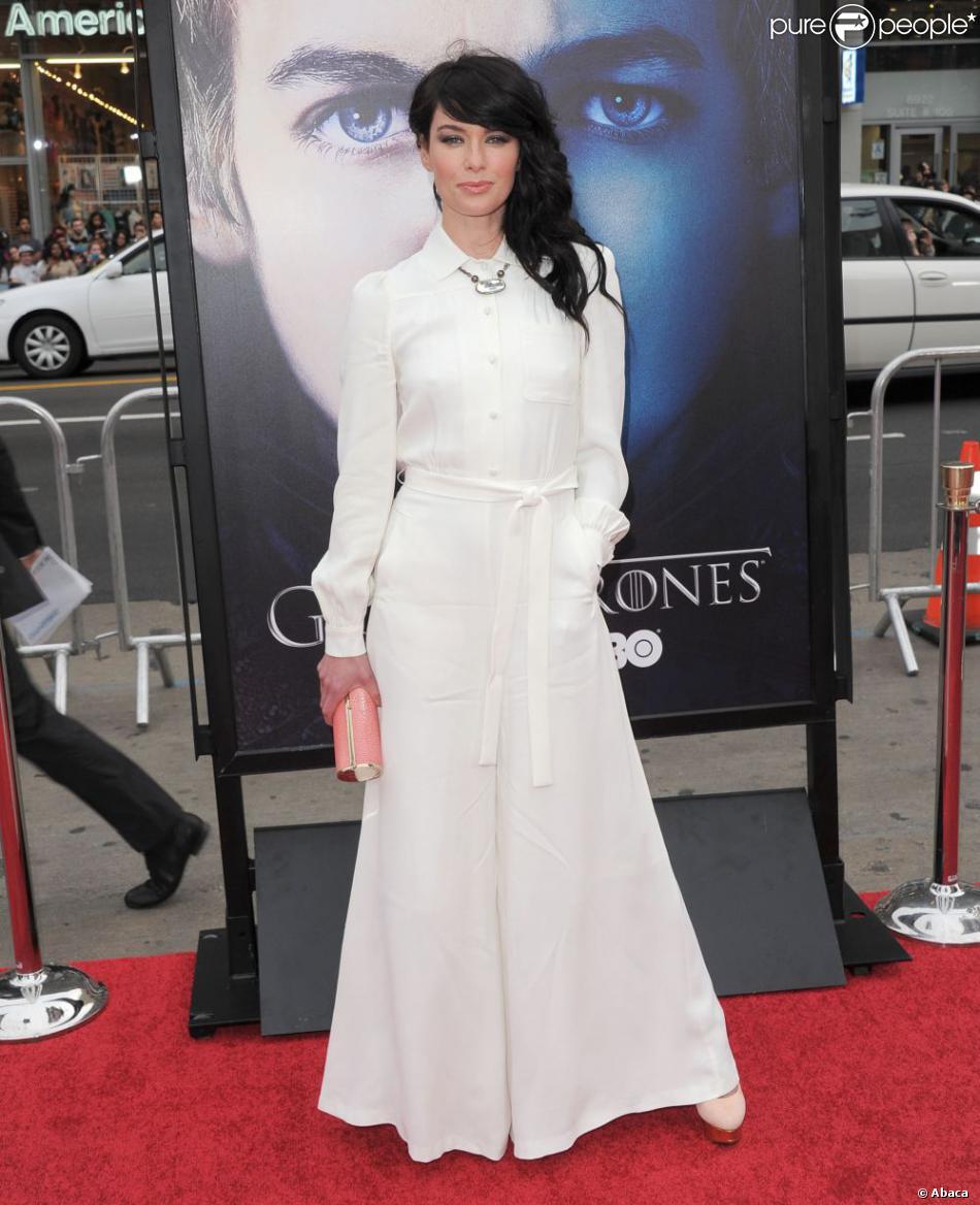 """Lena Headey à l'avant-première de la saison 3 de """"Game of Thrones"""", organisée par la chaîne HBO au Grauman's Chinese Theater de Los Angeles le 18 mars 2013."""